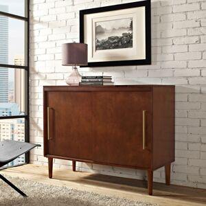 "Crosley Furniture Everett Media Console in Mahogany Finish - 44""W x 18""D x 34.25""H"