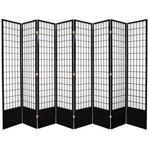 OrientalFurniture Handmade 7' Black 8-Panel Window Pane Shoji Screen (Black)
