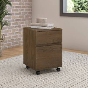 Bush Furniture Anthropology 2 Drawer Mobile File Cabinet (Letter - MDF - Assembly Required - Modern & Contemporary - Brown)
