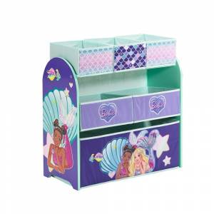 Barbie Mermaid Multi-Bin Toy Organizer (Green - Assembly Required)