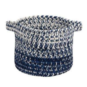 "Colonial Mills Monet Ombre  Indoor Outdoor Polypropylene Soft Braided Basket (12""x12""x10"" - Navy)"