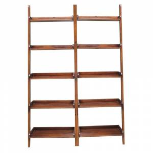 Overstock Brown Lean-to 5-tier Shelf Unit Set (Set of 2) (/)