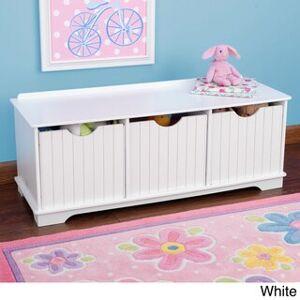 KidKraft Nantucket Storage Bench (White - Transitional)