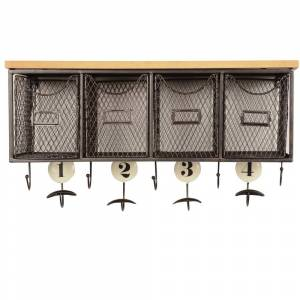 Linon 4-basket Wall Organizer (Black)