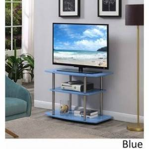 Porch & Den Derbigny 3-tier TV Stand (Blue)