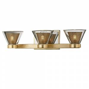 Troy Lighting Wink 3-light Gold Leaf/Polished Chrome Accents LED Bath/Wall Sconce (Gold Leaf, Polished Chrome Accents)