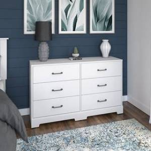 kathy ireland Home River Brook Dresser from kathy ireland Home by Bush Furniture (White)