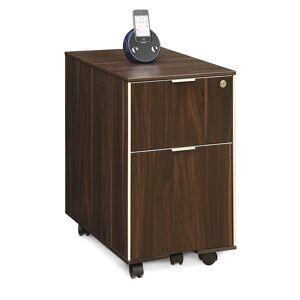 "Copper Grove Cadushi 2-drawer Mobile File Cabinet (Mobile/Locking - 2 Drawers - 16"" x 24"" x 26"" - Mobile File Pedestal - Laminate - Dark Walnut -"