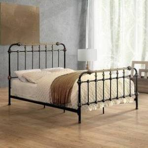 Furniture of America Pall Contemporary Metal Spindle Bed (Full)