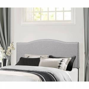 Hillsdale Furniture Kiley Grey Fabric/Wood King Headboard (King)
