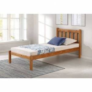 Bolton Furniture Poppy Solid Wood Twin or Full Size Bed (Twin No Storage - Brown)