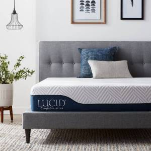 LUCID Comfort Collection 10-inch Gel and Aloe Vera Hybrid Memory Foam Mattress (King)