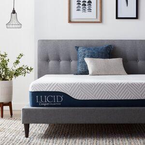 LUCID Comfort Collection 10-inch Gel and Aloe Vera Hybrid Memory Foam Mattress (Queen)