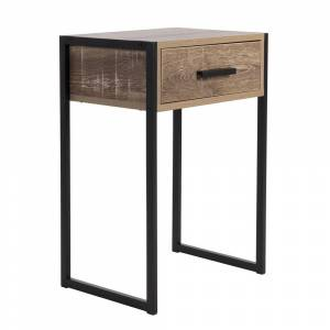 Rio Carbon Loft Likel Weathered Wood Bedside Table