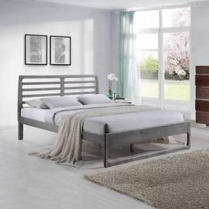 Christopher Knight Home Cindy Transitional Wooden Queen Platform Bed by Christopher Knight Home (Rustic Gray)