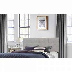 Hillsdale Furniture Delaney Headboard (Frame Not Included) Stone Fabric (King)