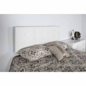 Sleep Sync Universal Upholstered Headboard Queen/Full (White - Faux Leather)