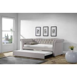 Gracewood Hollow Blackman Traditional Tufted Upholstered Daybed