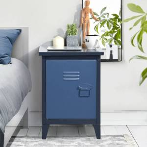 Taylor & Olive Lavatera Blue Metal Storage Cabinet (No Drawers)