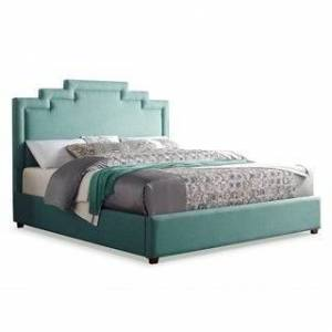 Greyson Living Soria Upholstered Seafoam Bed by Greyson Living (Queen)