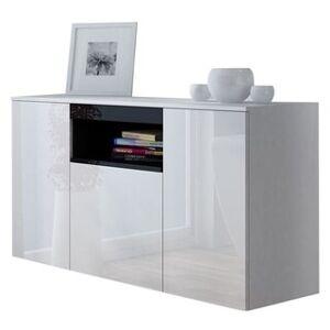 Overstock VIVA High Gloss Sideboard (White/Black)