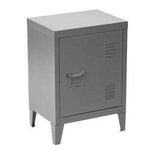 Porch & Den Maudsley Metal Storage Cabinet Nightstand (Grey)