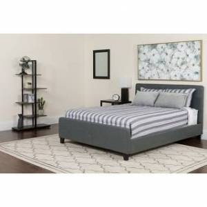 Lancaster Home Platform Bed (Dark Gray - King)
