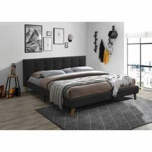 Bella Banda Modern Upholstered Bed Frame with Tufted Headboard (Dark Gray) (King)