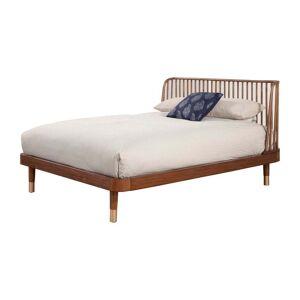 Alpine Furniture Belham Queen Wood Platform Bed in Dark Walnut (Brown) (Queen)