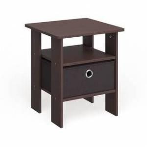 Porch & Den Cooper Square End Table/ Nightstand (two tables - Dark brown)