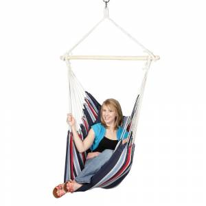 Blue Sky Outdoor Hammocks Hanging Chair with Two Cushions and FREE Hammock Straps (Hanging Chair with Two Cushions)