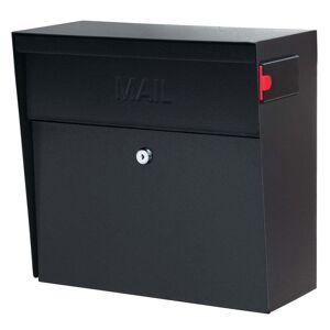 Boss Metro MailBoss Black Metal Locking Security Mailbox (Black)