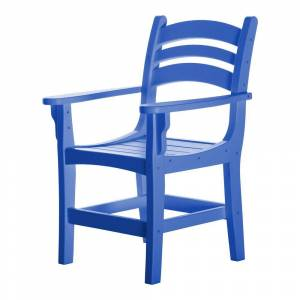 Pawley's Island Durawood Blue Casual Dining Chair with Arms (Blue)