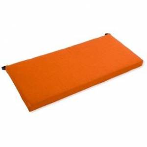 Blazing Needles 51-inch Solid All-Weather Bench Cushion (Tangerine Dream)