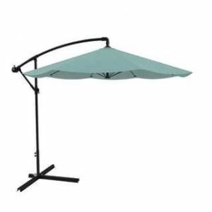 Pure 10ft Cantilever Easy Crank Umbrella by Pure Garden, Base Included (dusty green)