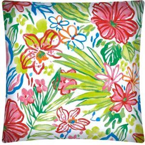 Joita, llc Joita TROPICAL MEDLEY Indoor/Outdoor - Zippered Pillow Cover (Set of 2 - white, red, pink orange, aqua, lime, green)