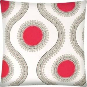 Joita, llc Joita KISSIMMEE  Indoor/Outdoor - Zippered Pillow Cover (Set of 2 - coral, taupe, black, off white)