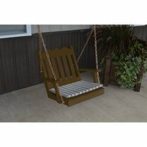 Overstock 2 Foot Outdoor Royal English Chair Swing (Coffee Paint)