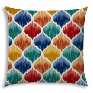 Joita, llc DENALINE Red Jumbo -Zippered Pillow Cover with Insert (red, orange, green, blue, navy, white)