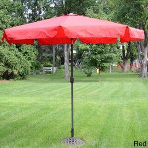 China Deluxe Outdoor 9-foot Tilt Umbrella (Red)