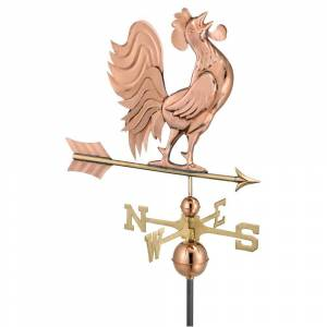 Good Directions Crowing Rooster Pure Copper Weathervane by Good Directions (Weather Vane - Metal - Copper - Assembly Required)