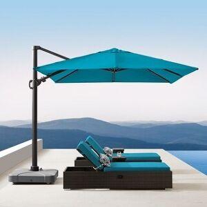 Corvus Valencia 10 foot Sunbrella Canopy Patio Umbrella with Base (Peacock)