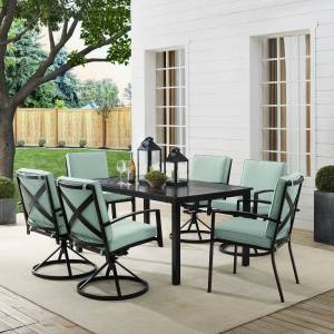 Crosley Furniture Kaplan 7Pc Outdoor Dining Set (Oil Rubbed Bronze - 7-Piece Sets)