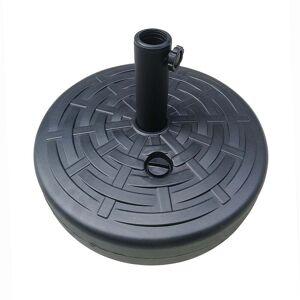 Overstock 14kgs Outdoor Shades Umbrella Plastic Umbrella Base with Filling Water (Black)