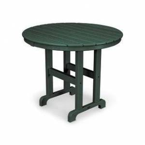 """POLYWOOD Round 36"""" Dining Table (Green)"""