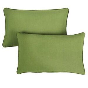 Humble and Haute Sunbrella Indoor/Outdoor Corded Lumbar Pillow, Set of 2 (16 in x 26in - Spectrum Cilantro)