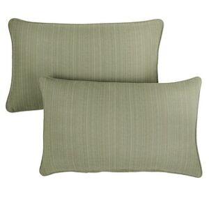 Mozaic Company Sunbrella Dupione Laurel Corded Indoor/ Outdoor Pillows (Set of 2) (16 in x 26 in)