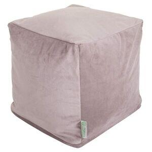 Majestic Home Goods Velvet Indoor / Outdoor Ottoman Pouf Cube (steel)