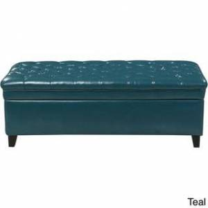 Christopher Knight Home Hastings Tufted Faux Leather Storage Ottoman by Christopher Knight Home (Teal)