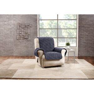 Sure Fit Deluxe Non-Slip Waterproof Recline Furniture Protector (Storm Blue)